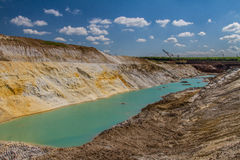 Clay quarry royalty free stock image