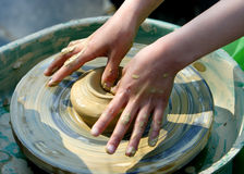clay ręka robi dziecko modelowania obrazy royalty free