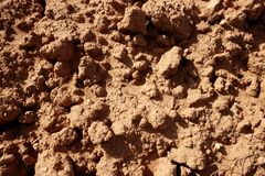 Clay red agriculture textured soil Royalty Free Stock Images