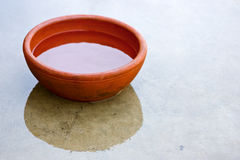 Clay red bowl Royalty Free Stock Photos