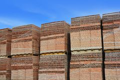 Clay red tiles stock pattern texture construction Stock Image