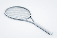 Clay Render Closeup Tennis Racket vector illustratie