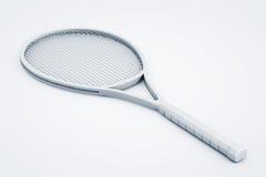 Clay Render Closeup Tennis Racket Stock Photo