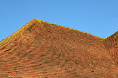 Clay ridge and roof tiles. Stock Image