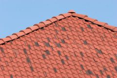 Clay Roof. This is the clay roof shingles of a local mexican hacienda Royalty Free Stock Images
