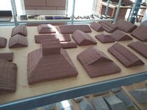 Clay roof model _ student production royalty free stock images