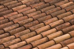 Clay roof shingles Stock Image