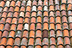 Clay Roof-tegels Royalty-vrije Stock Foto