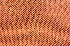 Clay roof texture. Orange roof tiles close up detail Royalty Free Stock Image