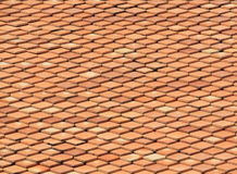 Clay roof texture. Roof tiles close up detail Royalty Free Stock Photography