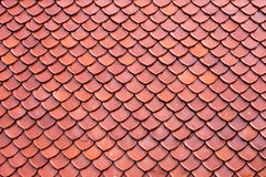 Clay roof texture Royalty Free Stock Photos