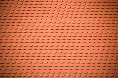 Clay roof tile background Stock Images