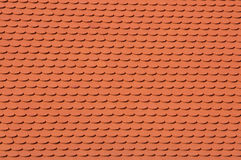 Clay roof tile background Stock Image