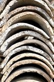 Clay roof tiles Stock Images