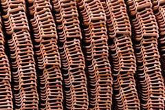 Clay Roof Tiles Fotografía de archivo libre de regalías