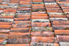 Clay Roof tiles Stock Photo