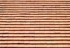 The Clay Roof Tiles of a House Royalty Free Stock Photos