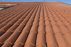 Clay roof tiles in the house Stock Photography