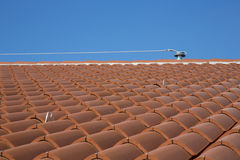 Clay roof tiles in the house Royalty Free Stock Image