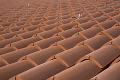 Clay roof tiles in the house Stock Photo