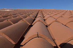 Clay roof tiles in the house Royalty Free Stock Photography