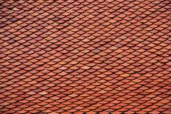 Clay roof tiles Royalty Free Stock Photos