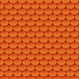 Clay roof tiles. Seamless pattern. Vector illustration Royalty Free Stock Photo