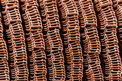 Clay roof tiles Royalty Free Stock Photography