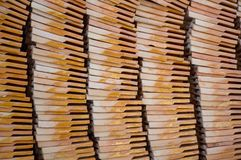 Clay roof tiles storage. In Wat Tham Sua Royalty Free Stock Image