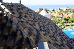 Clay Roof Tiles Stock Image