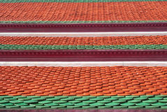 Clay roof tiles Thai pattern Stock Images