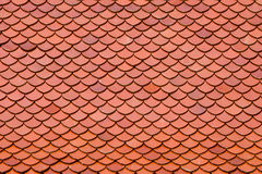 Clay roof tiles of Thai temple Stock Images