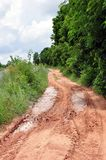 Clay s curve road Royalty Free Stock Photography
