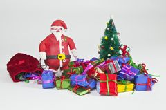 Clay Santa Figurine Stock Images