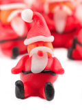 Clay Santas Stock Image