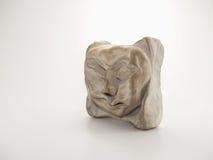 Clay Sculpture op Witte Achtergrond Stock Afbeeldingen