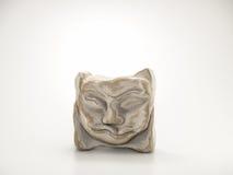 Clay Sculpture su fondo bianco Fotografia Stock Libera da Diritti