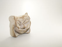 Clay Sculpture su fondo bianco Fotografie Stock