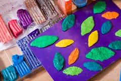Clay shapes Royalty Free Stock Image