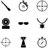 Clay shooting icon set vector illustration