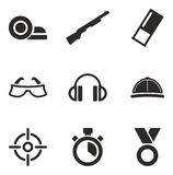 Clay Shooting Icons Royalty Free Stock Image