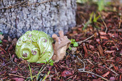 Clay snail Royalty Free Stock Photo