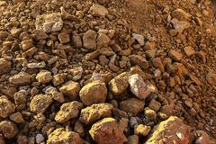 Clay soil. Dry clay soil texture background Stock Image