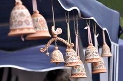 Clay souvenir bells Stock Images
