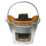 Clay stove isolate on white background Royalty Free Stock Image