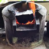 Clay stove Stock Photography