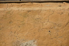 Clay and straw plaster to traditional house footings Royalty Free Stock Image