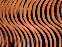 Clay Structure. Red clay structure winds and bends Royalty Free Stock Photography