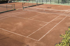 Clay surface tennis court Stock Image