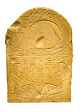 Clay Tablet With Ancient Egyptian Hieroglyphs Containing Human F Stock Photo